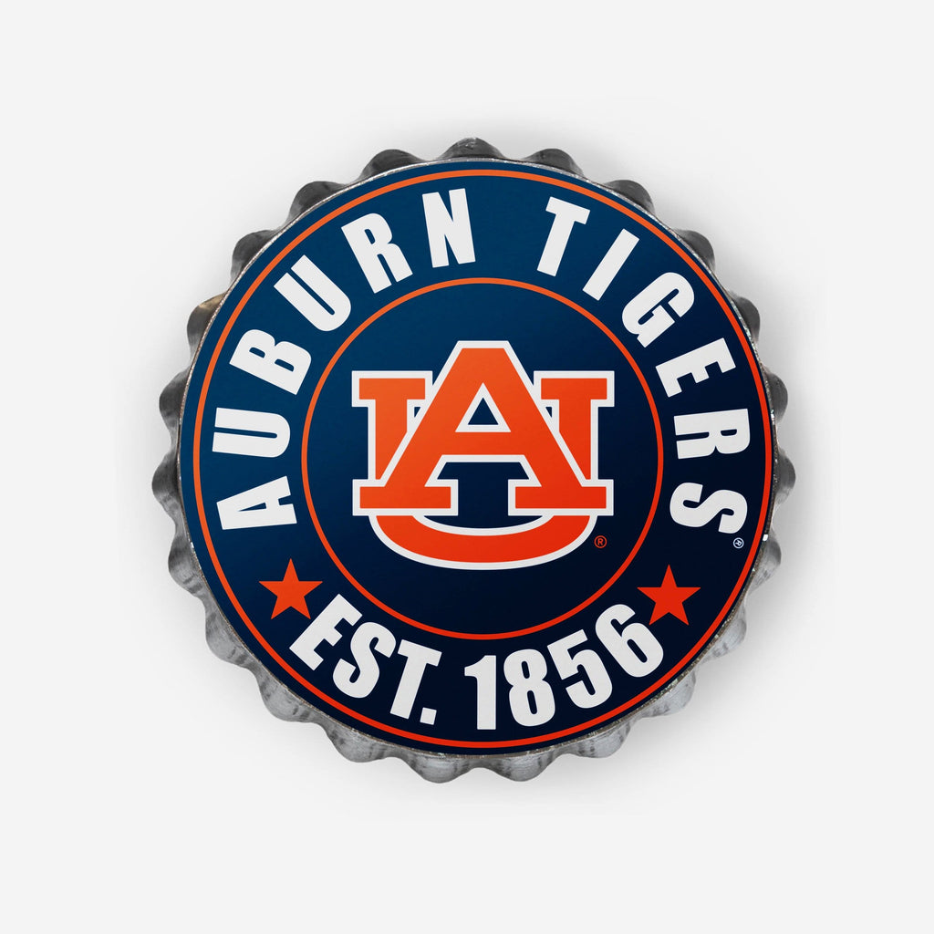 Auburn Tigers Bottle Cap Wall Sign FOCO - FOCO.com