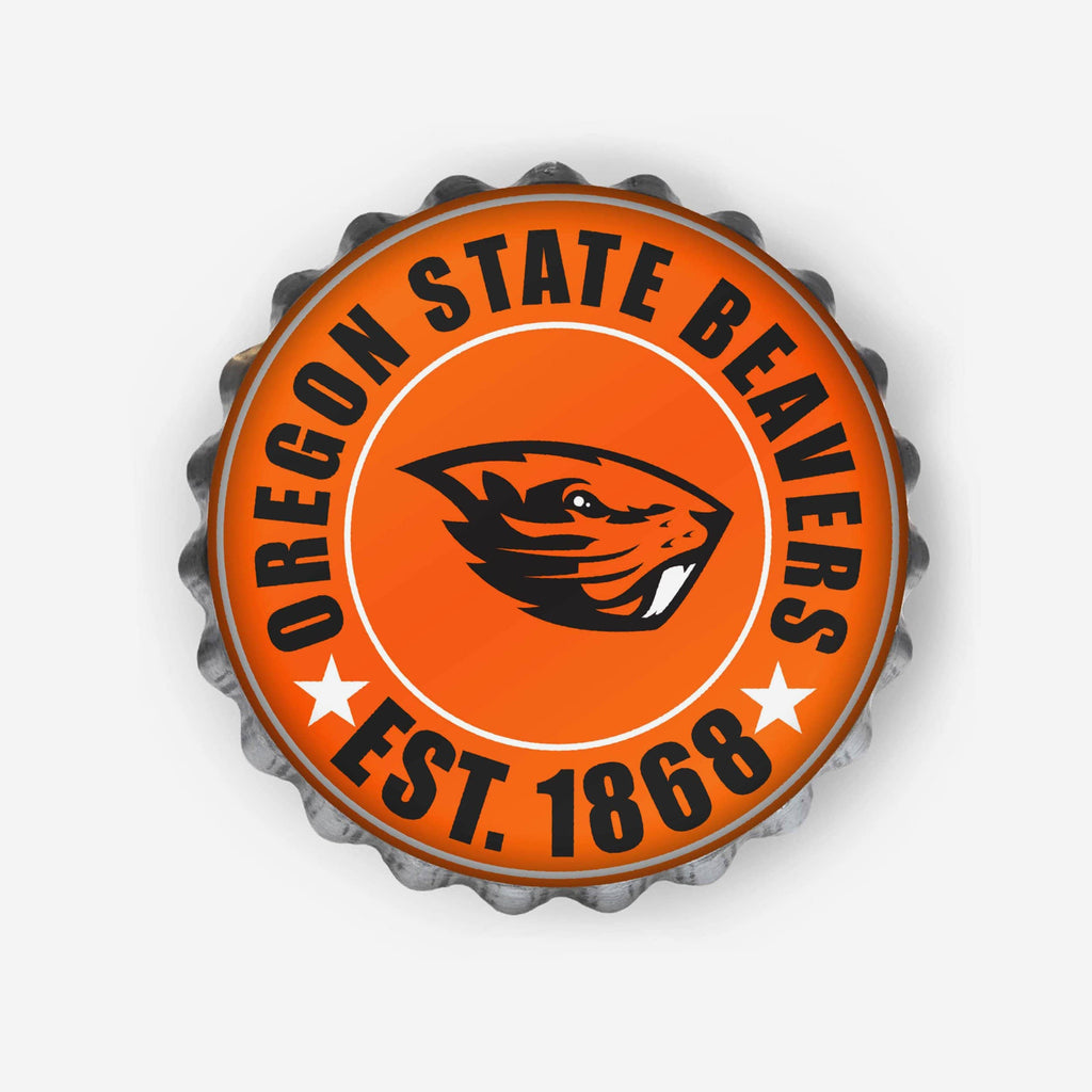 Oregon State Beavers Bottle Cap Wall Sign FOCO - FOCO.com
