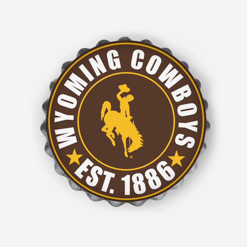 Wyoming Cowboys Bottle Cap Wall Sign FOCO - FOCO.com
