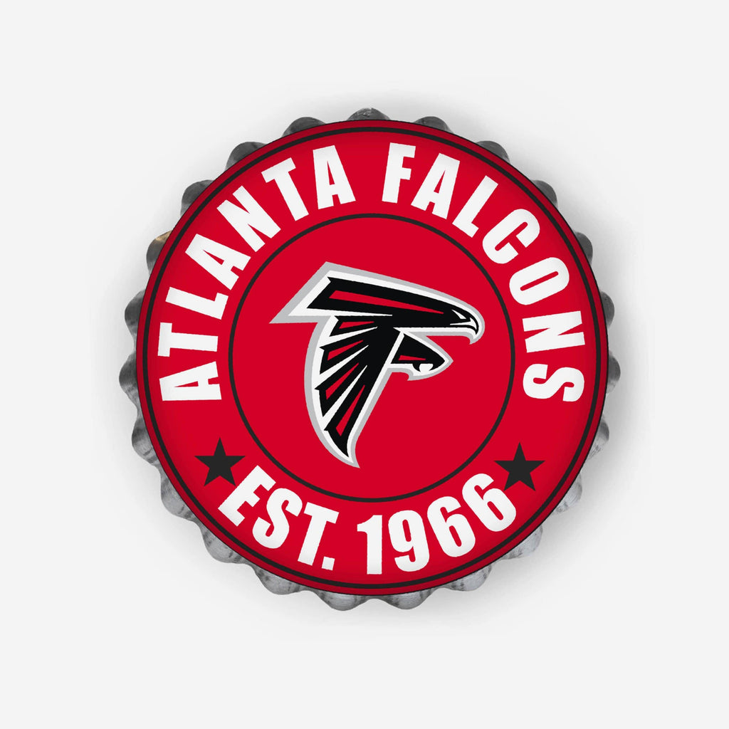 Atlanta Falcons Bottle Cap Wall Sign FOCO - FOCO.com