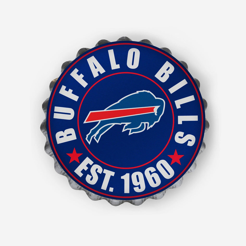 Buffalo Bills Bottle Cap Wall Sign FOCO - FOCO.com