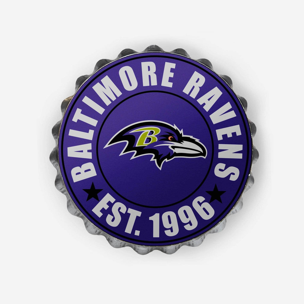 Baltimore Ravens Bottle Cap Wall Sign FOCO - FOCO.com