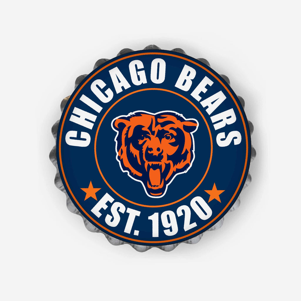 Chicago Bears Bottle Cap Wall Sign FOCO - FOCO.com