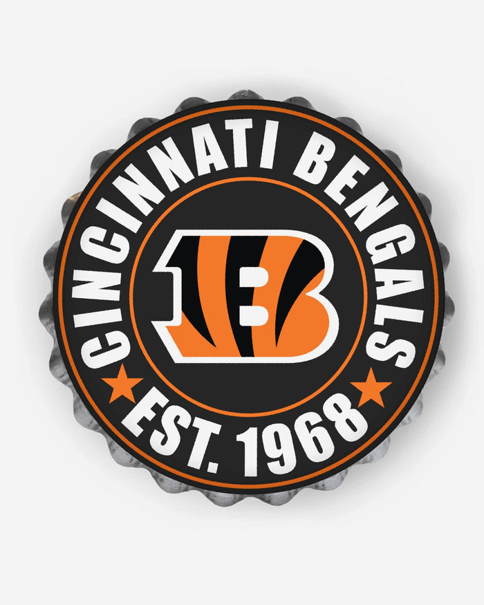 Cincinnati Bengals Bottle Cap Wall Sign FOCO - FOCO.com
