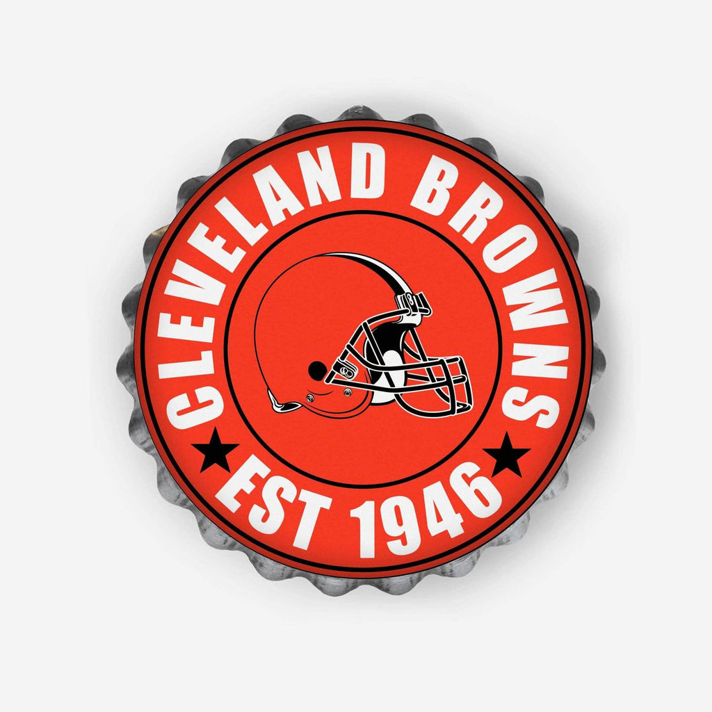 Cleveland Browns Bottle Cap Wall Sign FOCO - FOCO.com