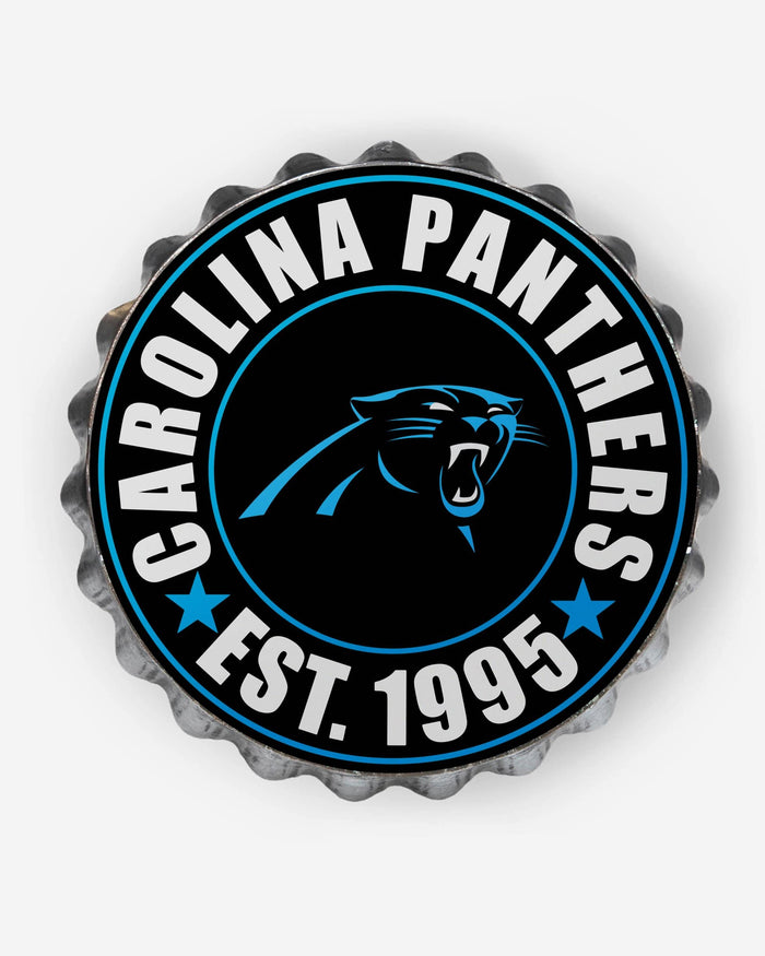 Carolina Panthers Bottle Cap Wall Sign FOCO - FOCO.com