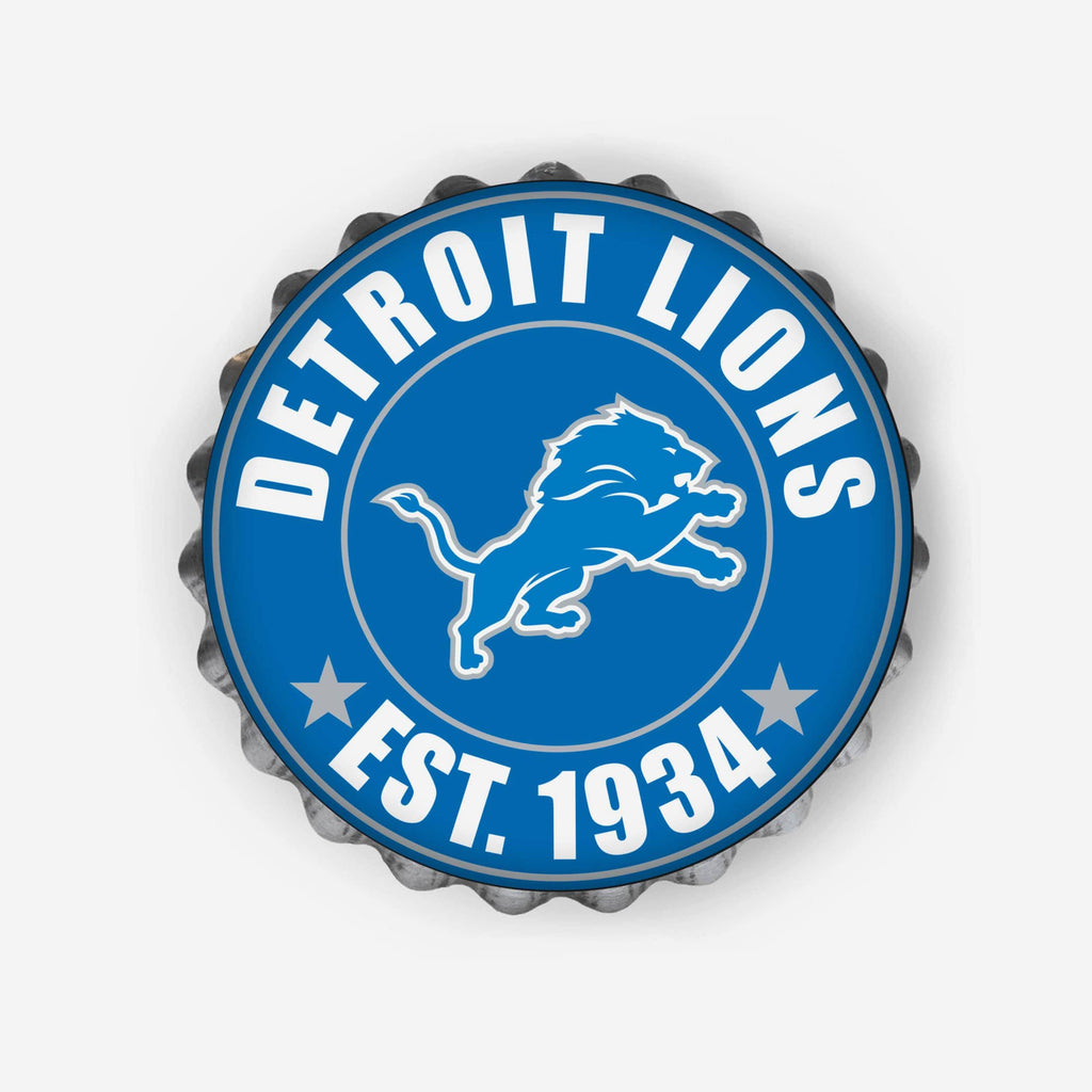 Detroit Lions Bottle Cap Wall Sign FOCO - FOCO.com