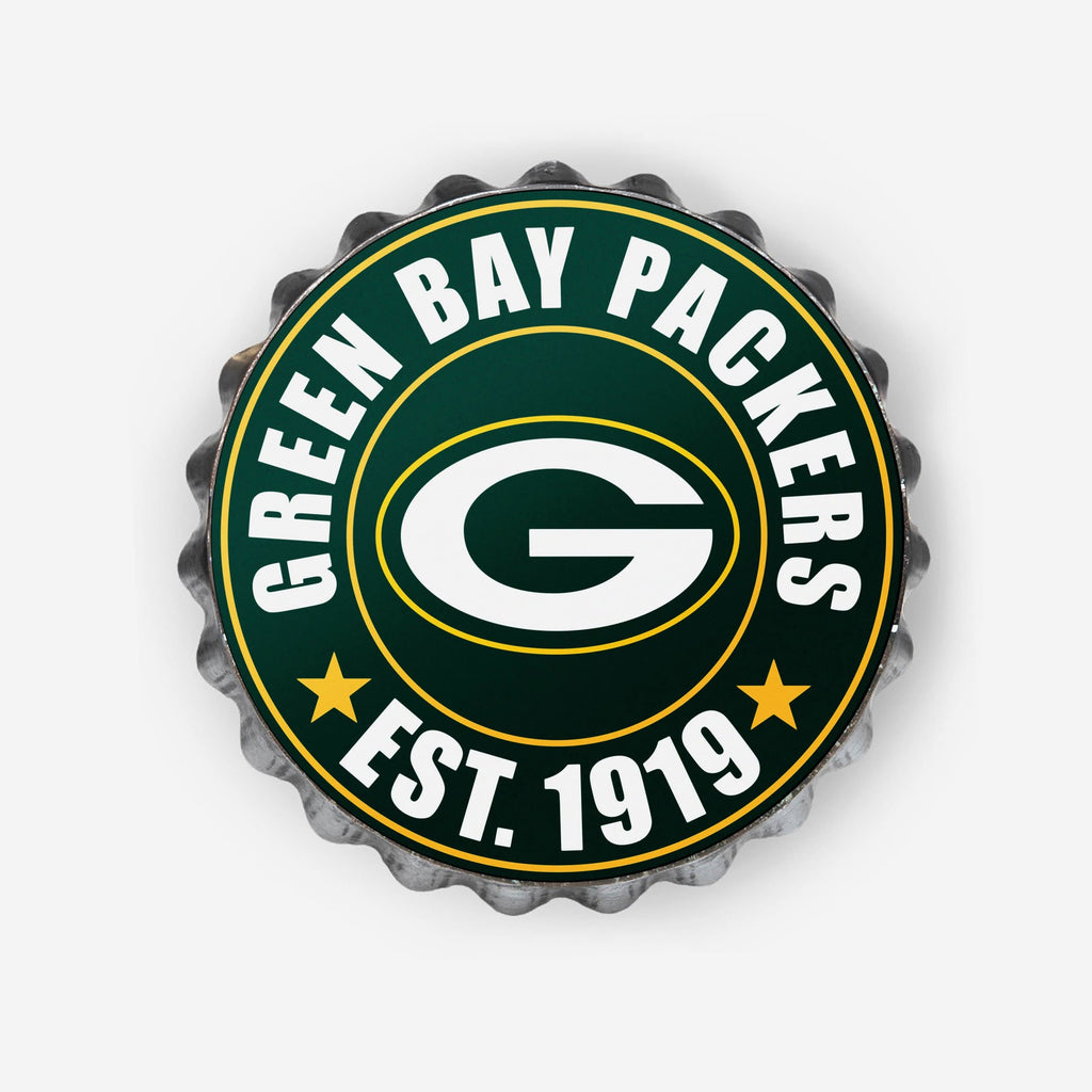 Green Bay Packers Bottle Cap Wall Sign FOCO - FOCO.com
