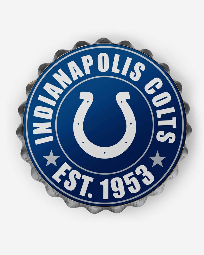 Indianapolis Colts Bottle Cap Wall Sign FOCO - FOCO.com