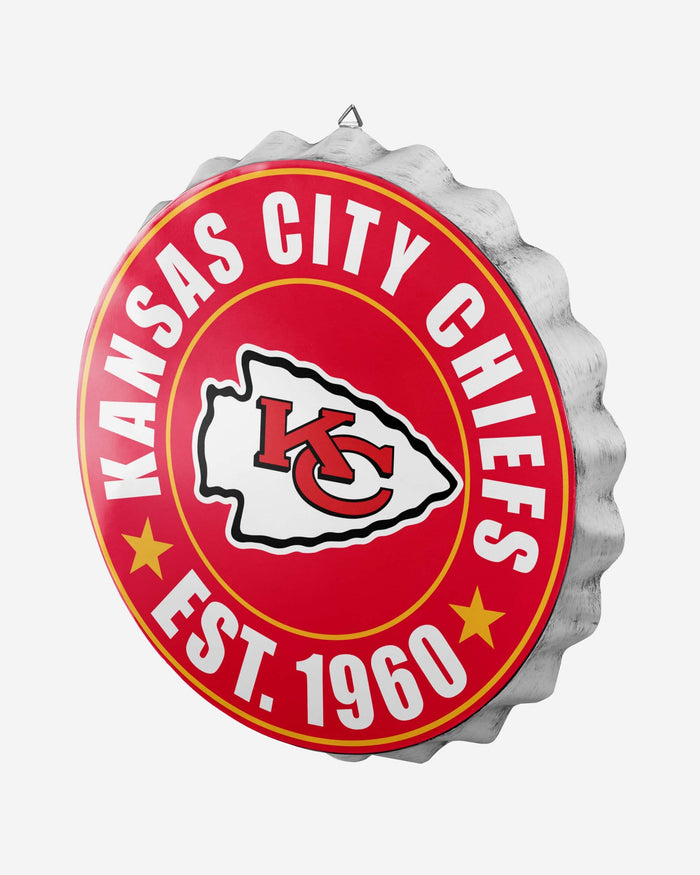 Kansas City Chiefs Bottle Cap Wall Sign FOCO - FOCO.com