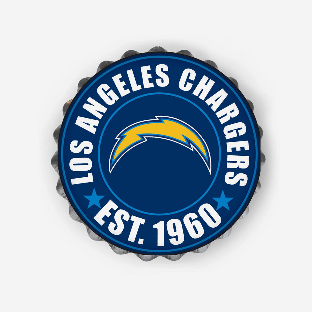 Los Angeles Chargers Bottle Cap Wall Sign FOCO - FOCO.com