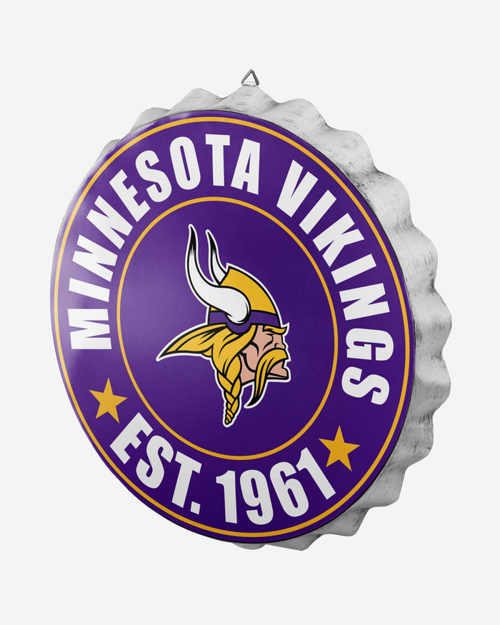 Minnesota Vikings Bottle Cap Wall Sign FOCO - FOCO.com