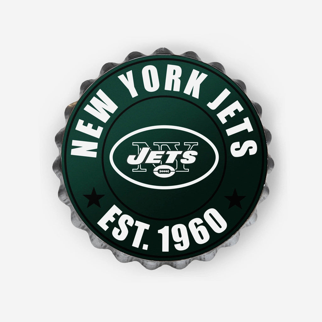 New York Jets Bottle Cap Wall Sign FOCO - FOCO.com