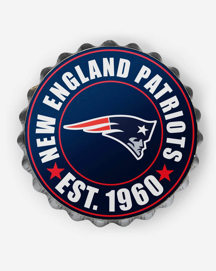 New England Patriots Bottle Cap Wall Sign FOCO - FOCO.com