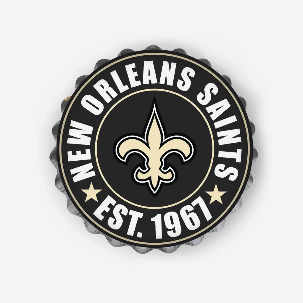 New Orleans Saints Bottle Wall Sign FOCO - FOCO.com