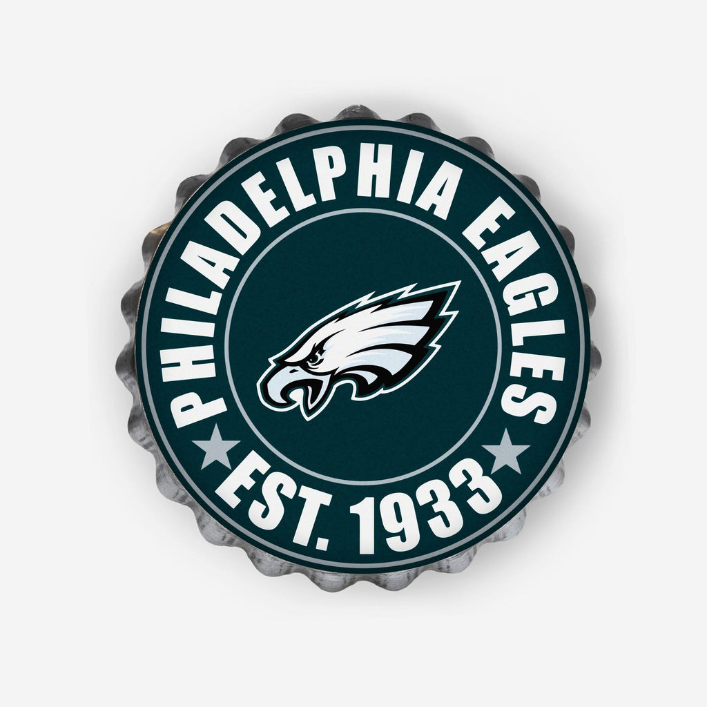 Philadelphia Eagles Bottle Cap Wall Sign FOCO - FOCO.com
