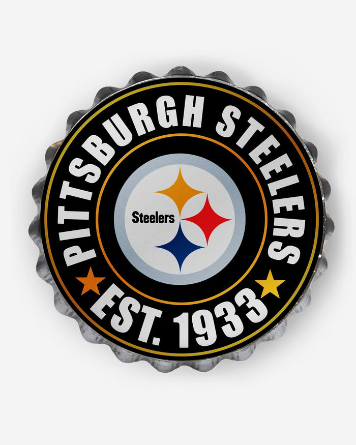 Pittsburgh Steelers Bottle Cap Wall Sign FOCO - FOCO.com