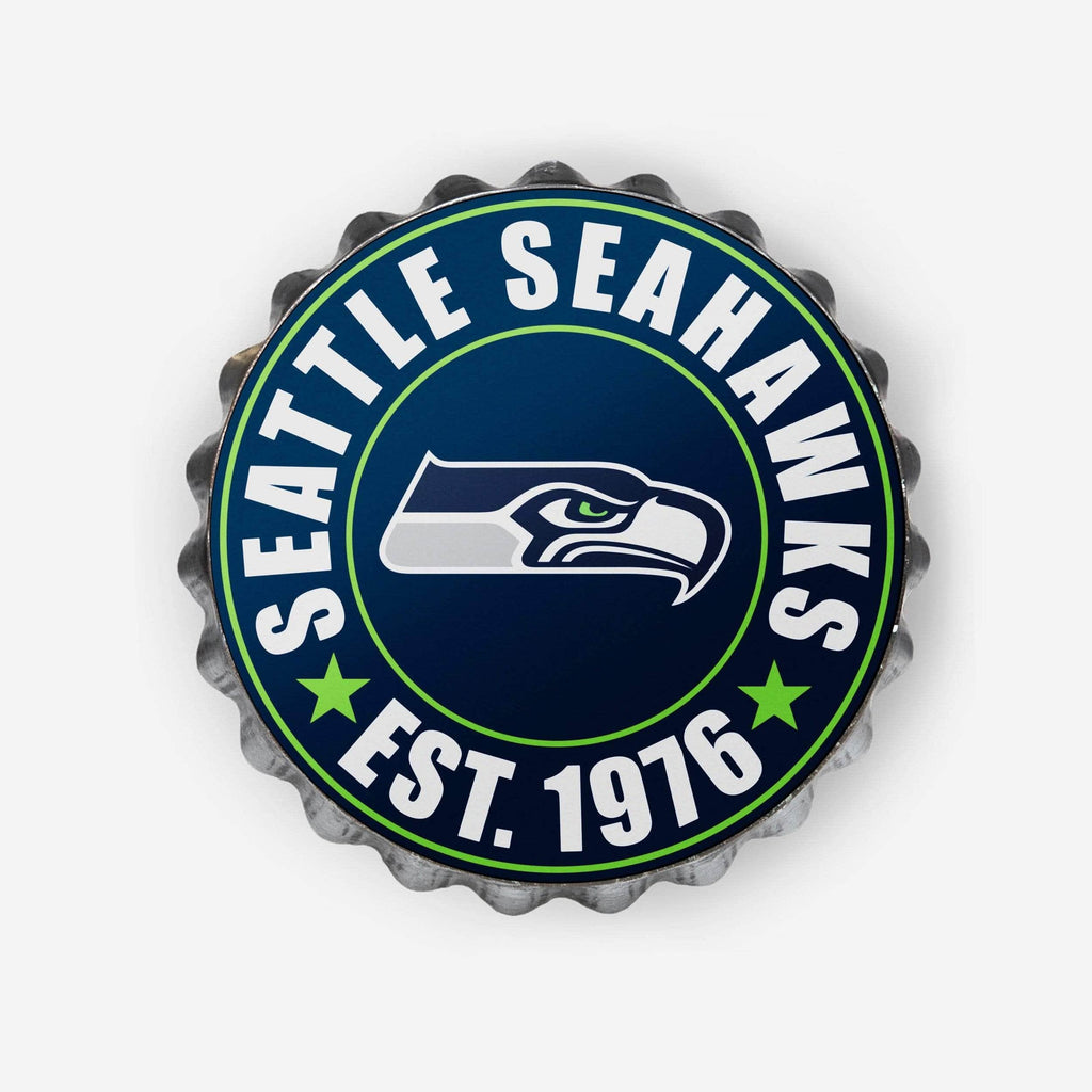 Seattle Seahawks Bottle Cap Wall Sign FOCO - FOCO.com