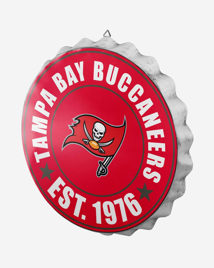 Tampa Bay Buccaneers Bottle Cap Wall Sign FOCO - FOCO.com