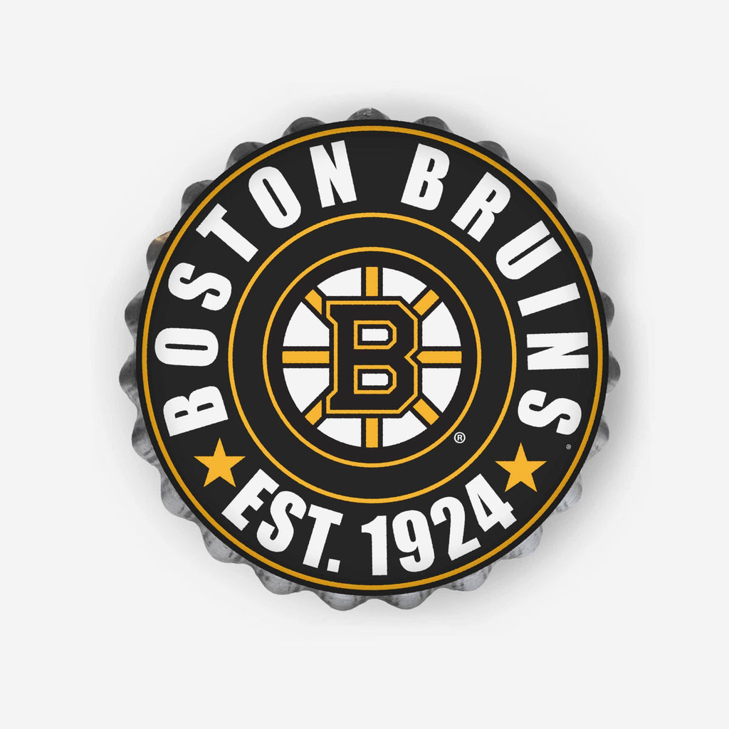 Boston Bruins Bottle Cap Wall Sign FOCO - FOCO.com