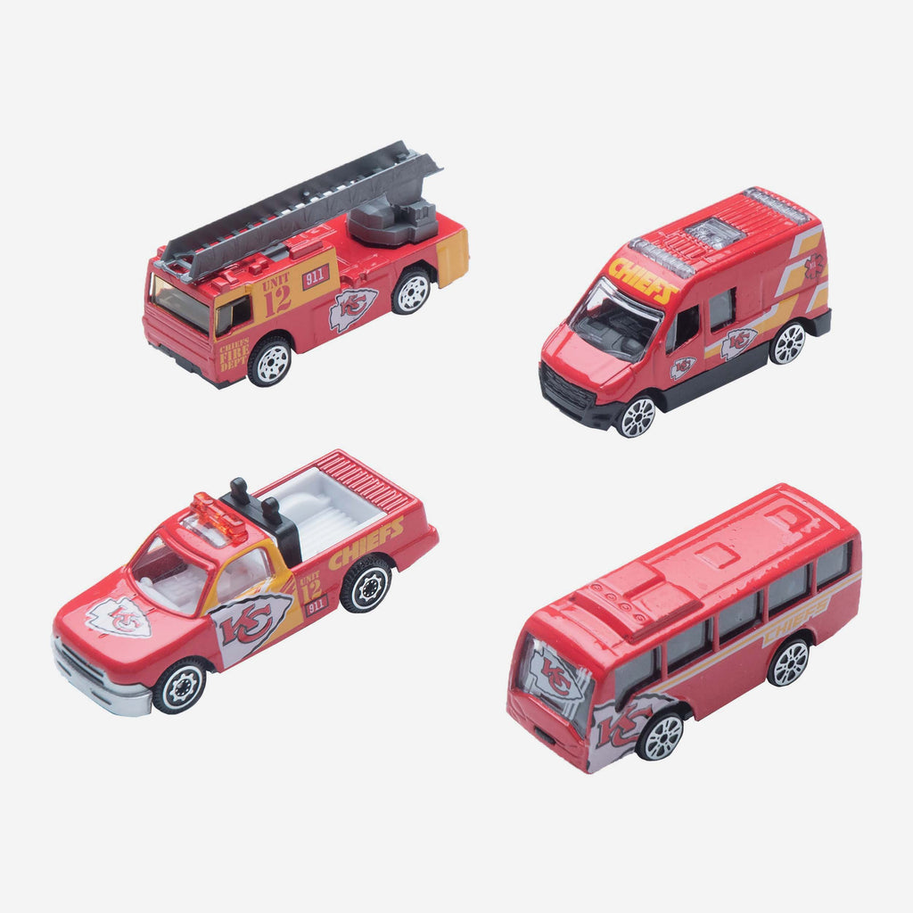 Kansas City Chiefs Die Cast Cars 4 Pack FOCO - FOCO.com