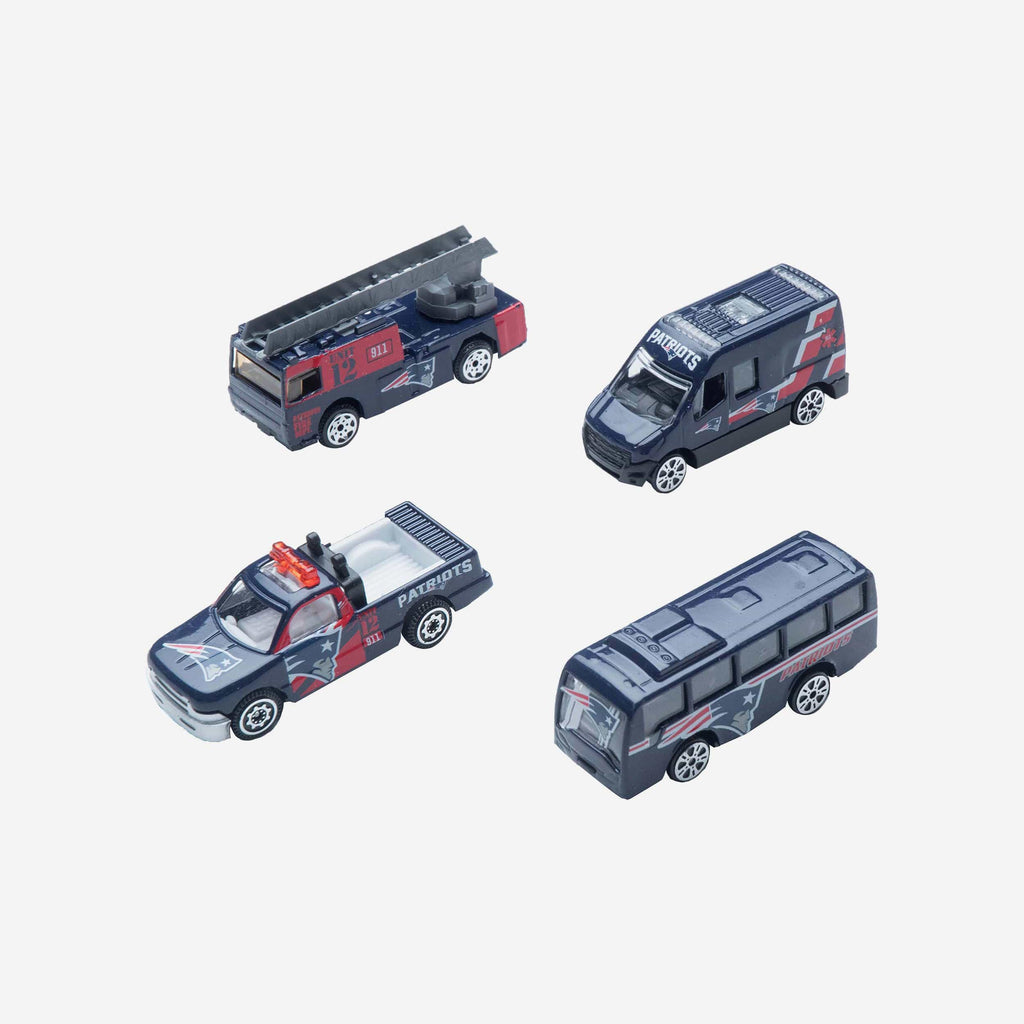 New England Patriots Die Cast Cars 4 Pack FOCO - FOCO.com