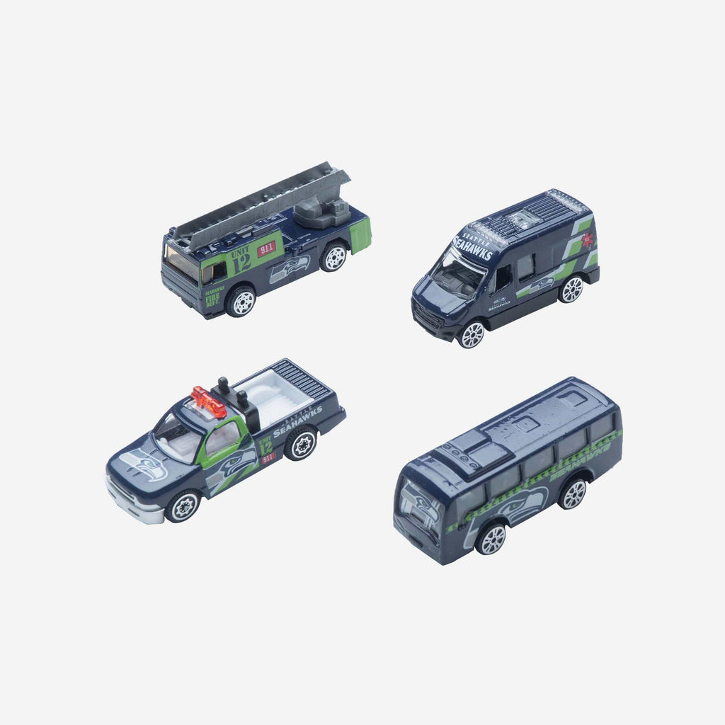 Seattle Seahawks Die Cast Cars 4 Pack FOCO - FOCO.com