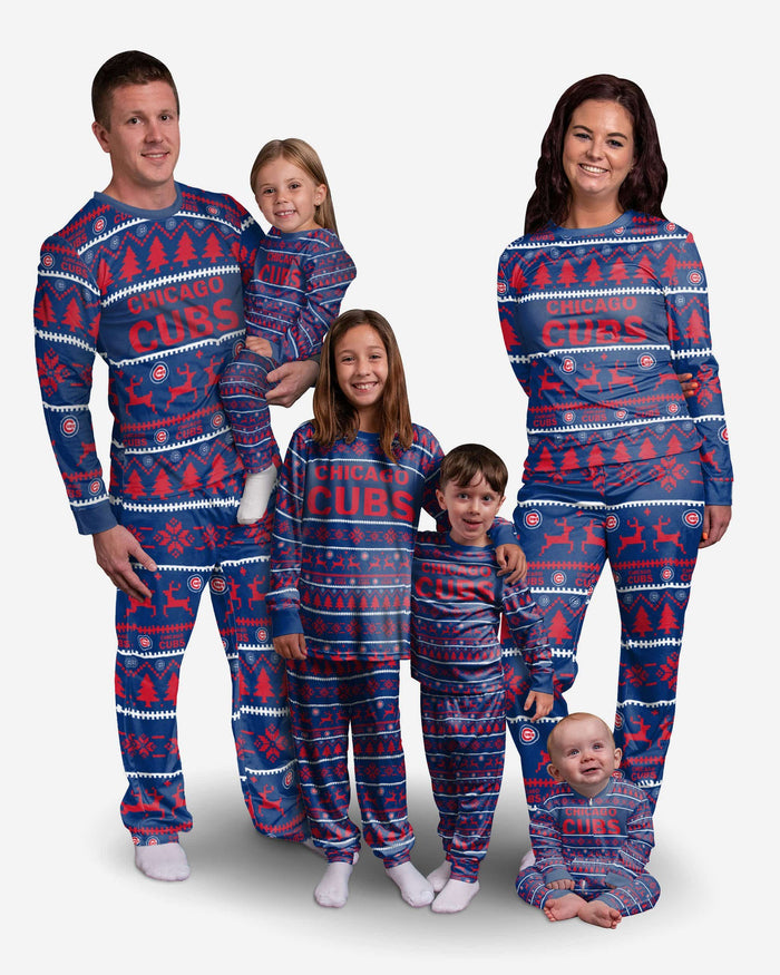 Chicago Cubs Toddler Family Holiday Pajamas FOCO - FOCO.com