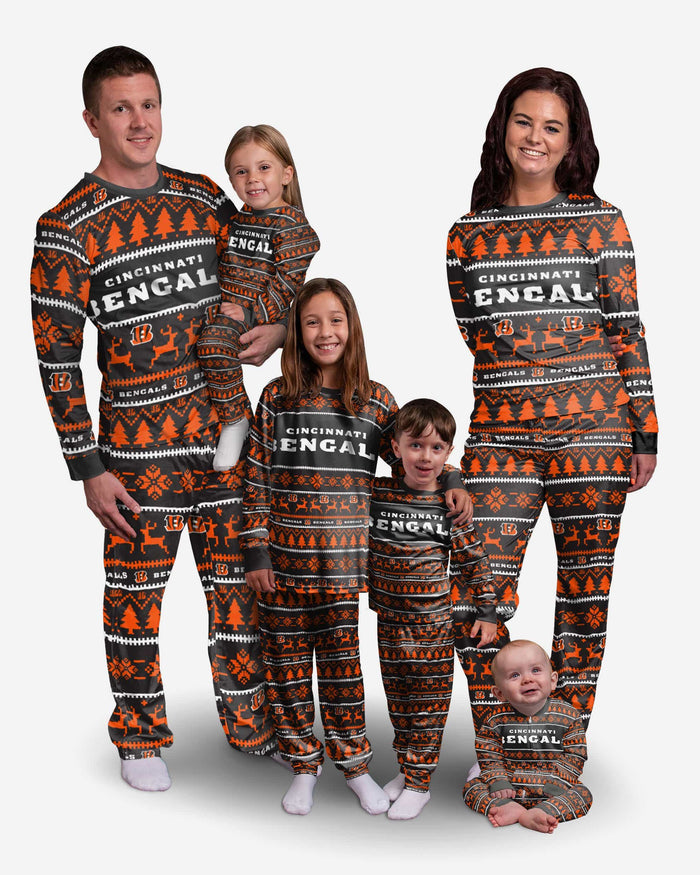 Cincinnati Bengals Family Holiday Pajamas FOCO - FOCO.com