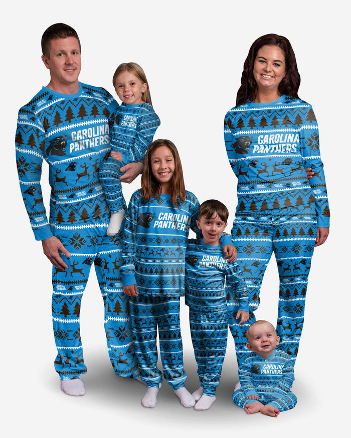 Carolina Panthers Toddler Family Holiday Pajamas FOCO - FOCO.com