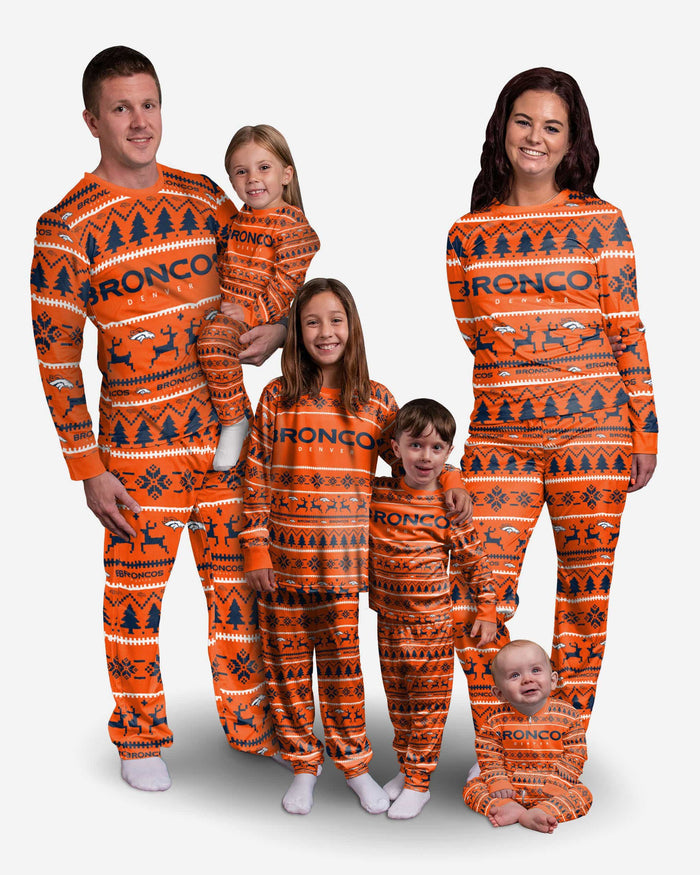 Denver Broncos Youth Family Holiday Pajamas FOCO - FOCO.com