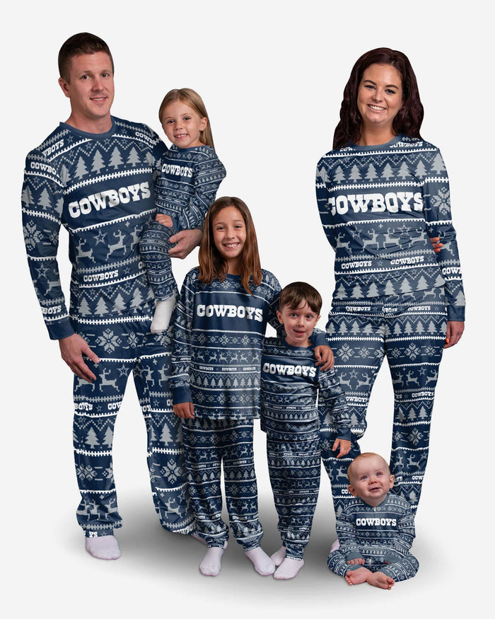 Dallas Cowboys Infant Family Holiday Pajamas FOCO - FOCO.com