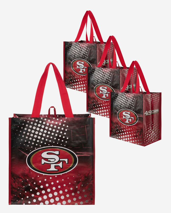 San Francisco 49Ers 4 Pack Reusable Shopping Bags FOCO - FOCO.com