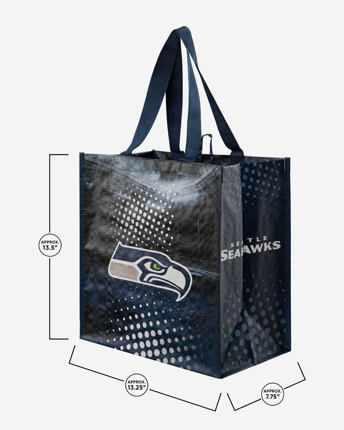 Seattle Seahawks 4 Pack Reusable Shopping Bags FOCO - FOCO.com