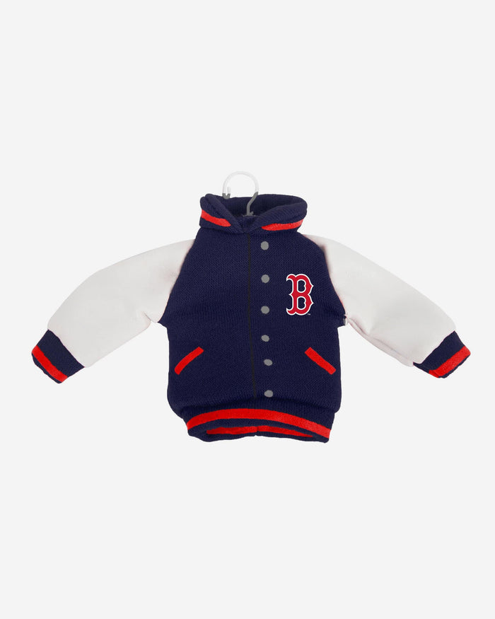Boston Red Sox Fabric Varsity Jacket Ornament FOCO - FOCO.com