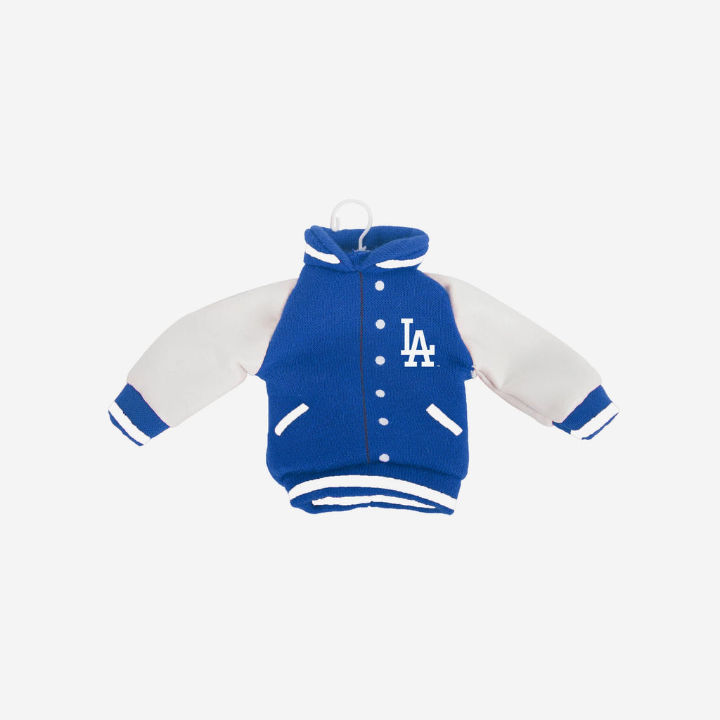 Los Angeles Dodgers Fabric Varsity Jacket Ornament FOCO - FOCO.com