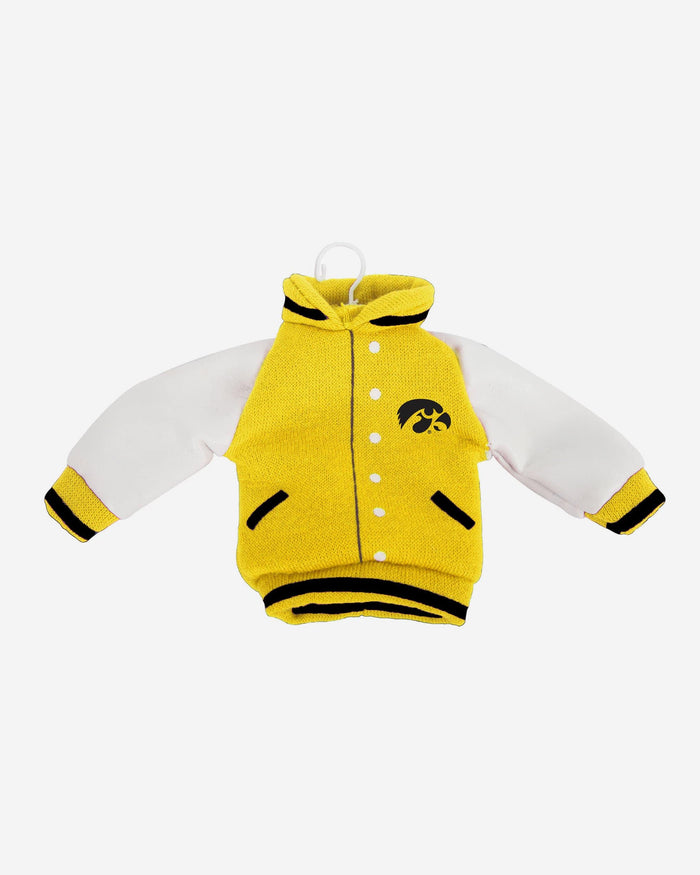 Iowa Hawkeyes Fabric Varsity Jacket Ornament FOCO - FOCO.com