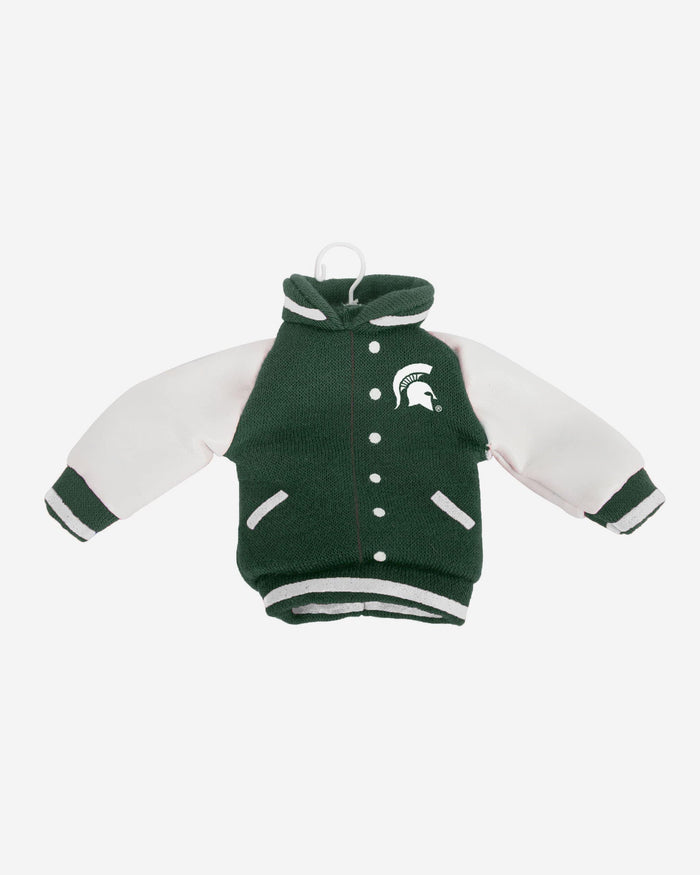Michigan State Spartans Fabric Varsity Jacket Ornament FOCO - FOCO.com