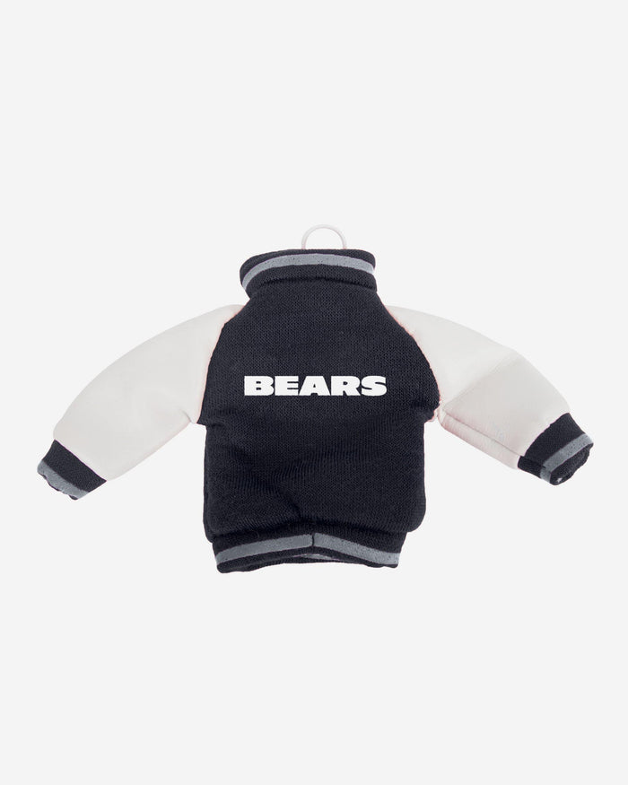 Chicago Bears Fabric Varsity Jacket Ornament FOCO - FOCO.com