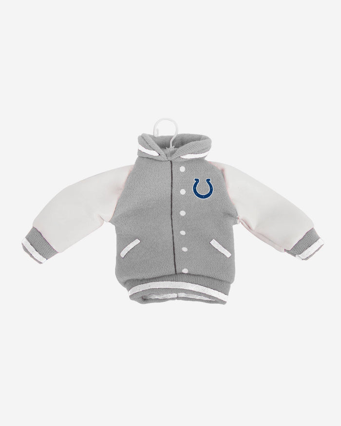 Indianapolis Colts Fabric Varsity Jacket Ornament FOCO - FOCO.com