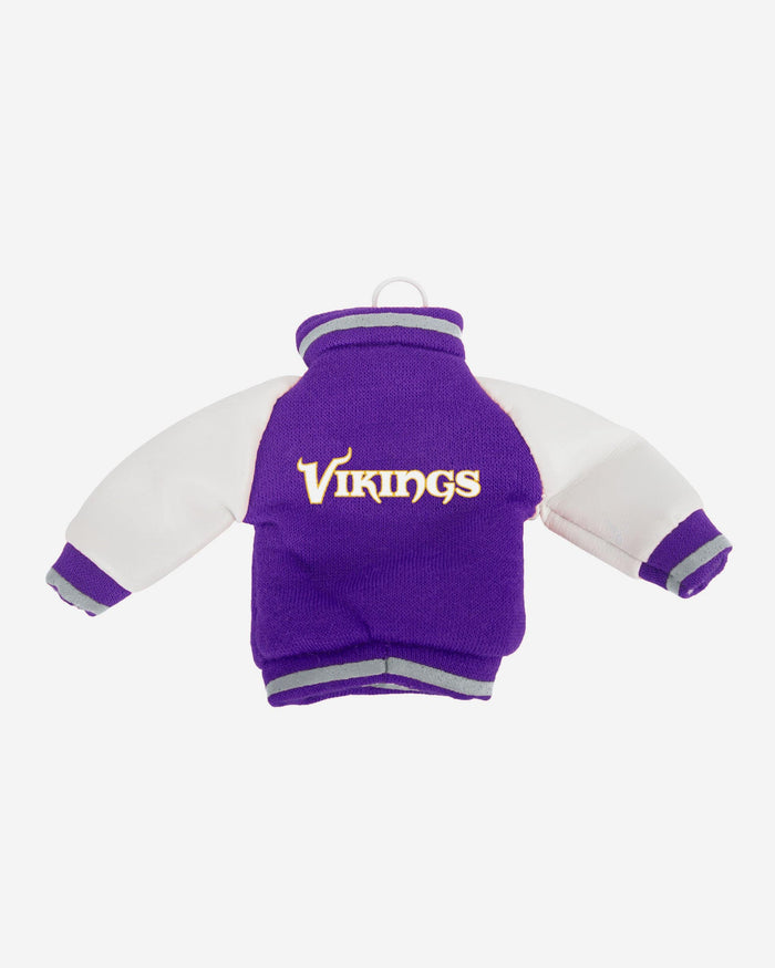 Minnesota Vikings Fabric Varsity Jacket Ornament FOCO - FOCO.com
