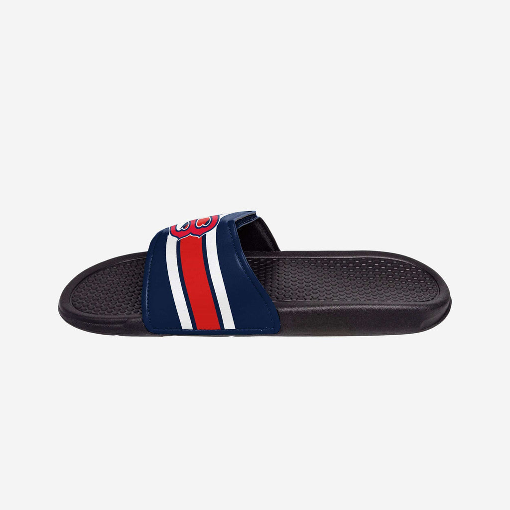 Boston Red Sox Stripe Legacy Sport Slide FOCO - FOCO.com