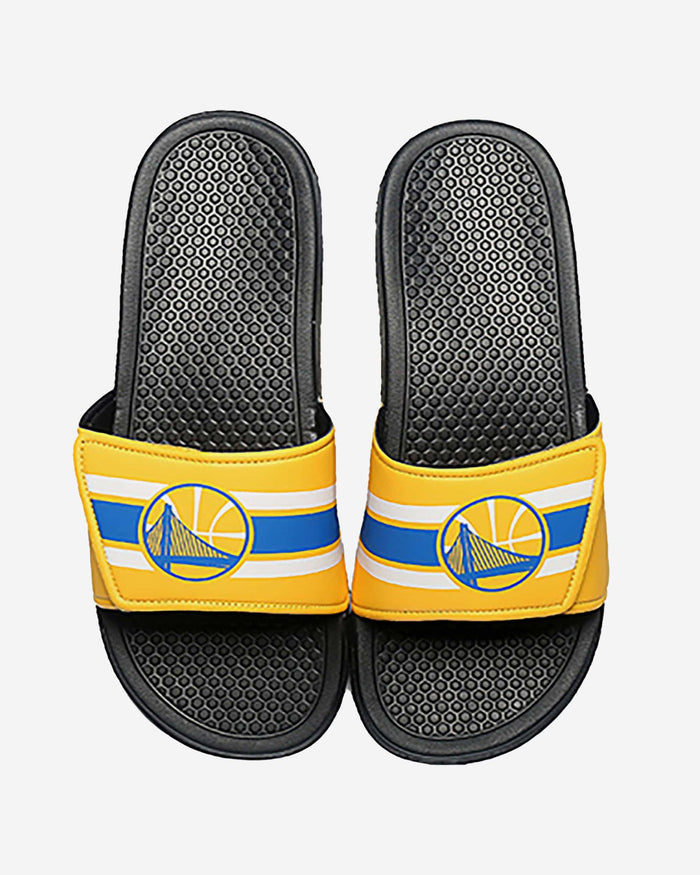 Golden State Warriors Stripe Legacy Sport Slide FOCO S - FOCO.com