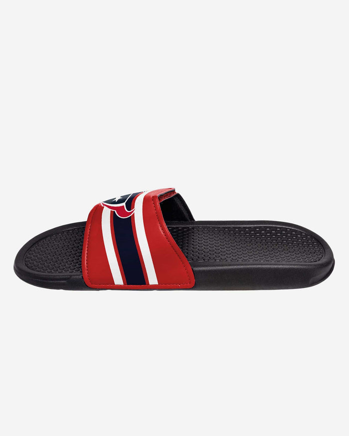 Houston Texans Stripe Legacy Sport Slide FOCO - FOCO.com