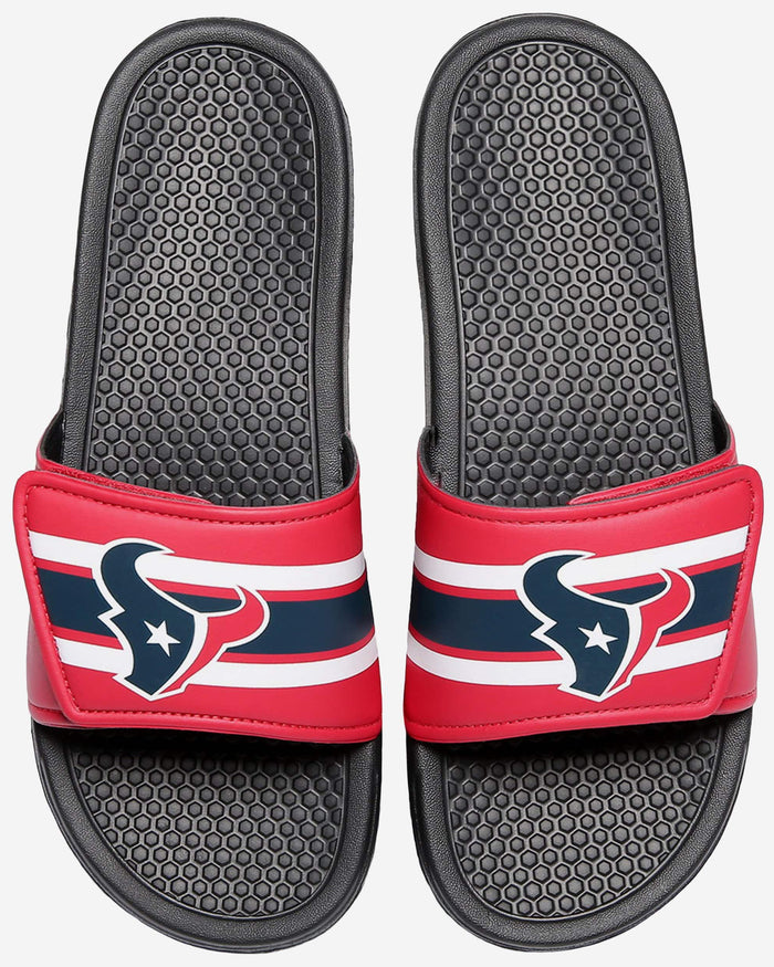 Houston Texans Stripe Legacy Sport Slide FOCO XL - FOCO.com