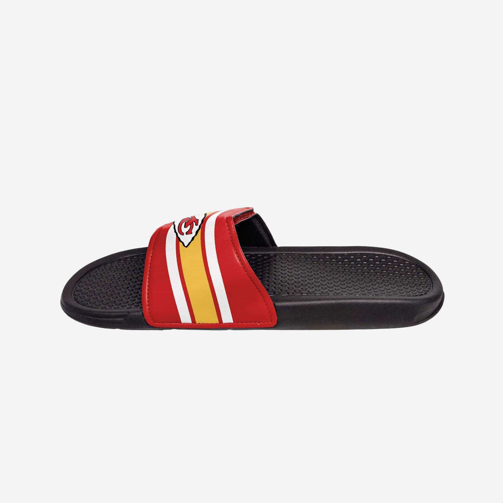 Kansas City Chiefs Stripe Legacy Sport Slide FOCO - FOCO.com