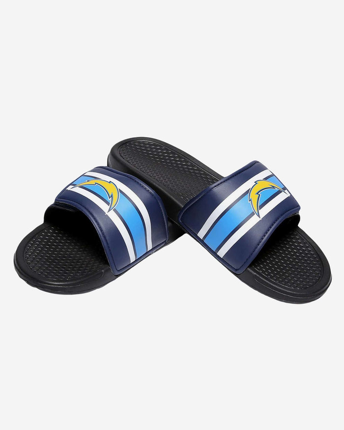 Los Angeles Chargers Stripe Legacy Sport Slide FOCO - FOCO.com