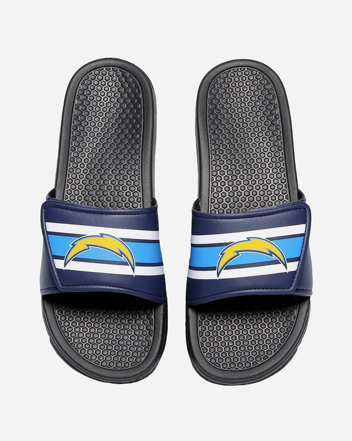 Los Angeles Chargers Stripe Legacy Sport Slide FOCO M - FOCO.com