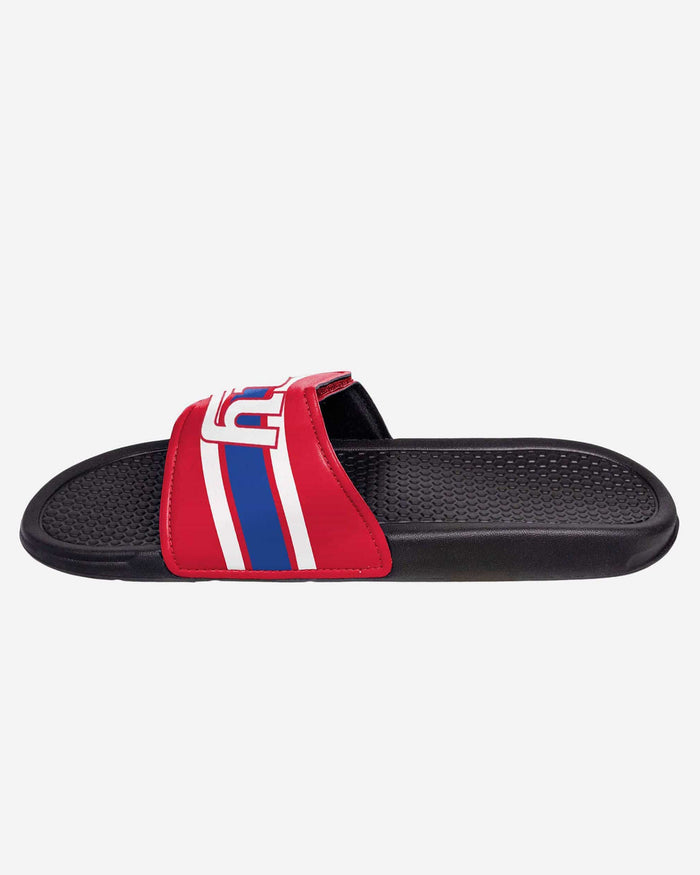 New York Giants Stripe Legacy Sport Slide FOCO - FOCO.com
