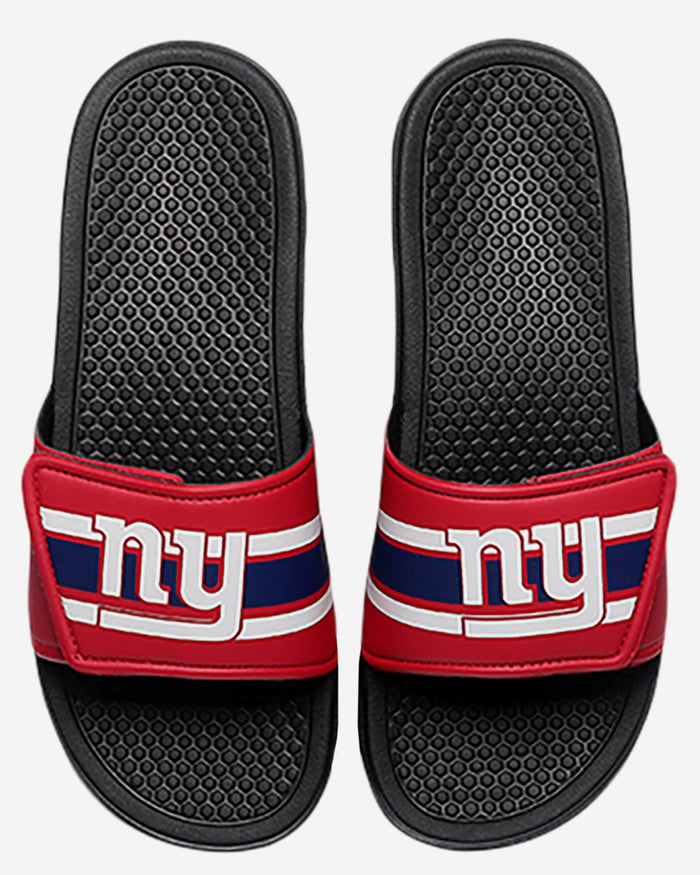 New York Giants Stripe Legacy Sport Slide FOCO M - FOCO.com